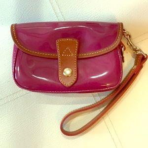 Dooney Wristlet, Pink Patent